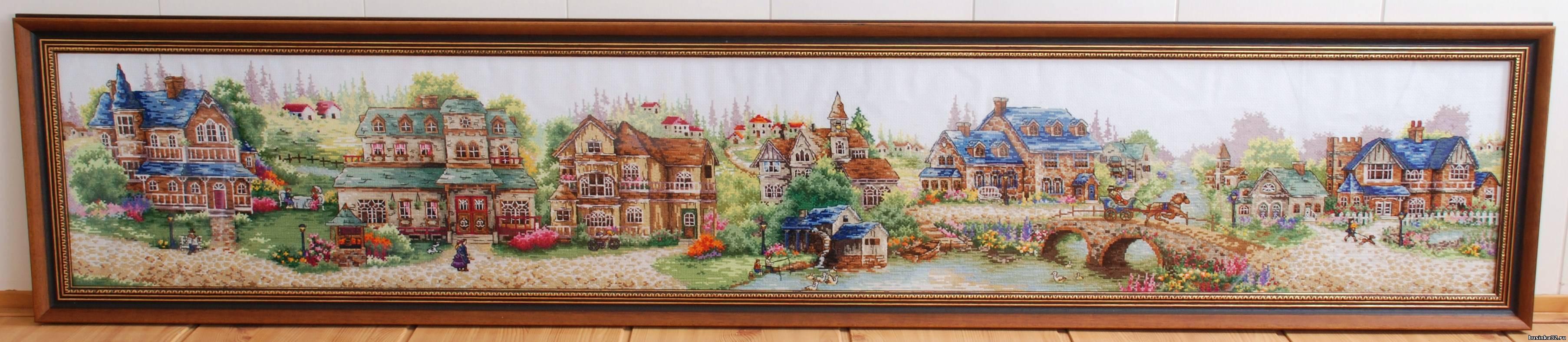 Праздничная деревня вышивка отзывы