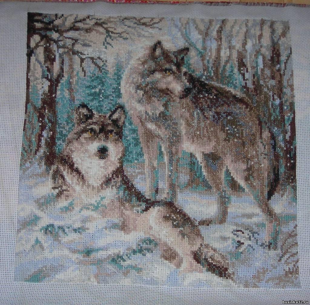 Волчья пара риолис вышивку