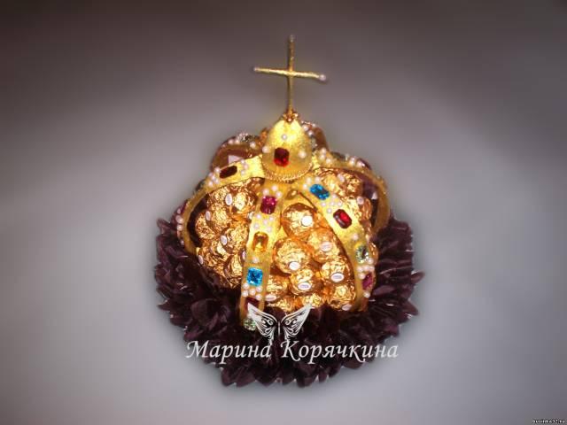 Корона конфеты своими руками