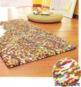 Прикроватный коврик своими руками фото