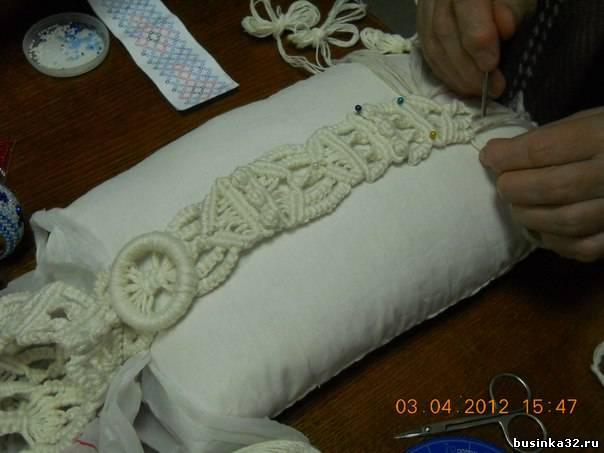 Плетение пояса в технике
