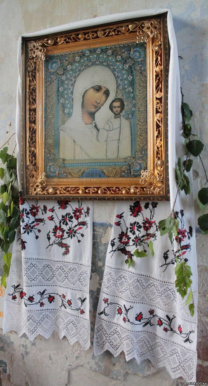 Вышивка крестом рушников на иконы
