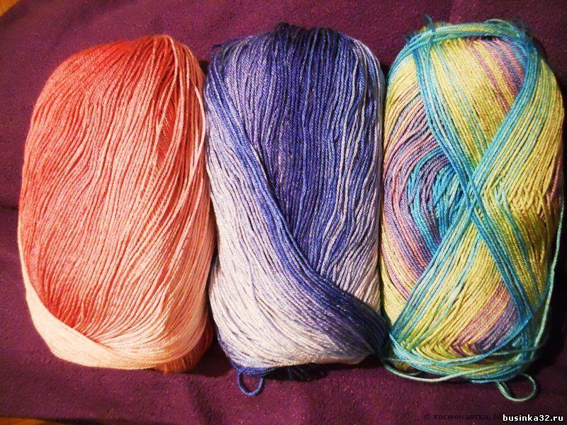 Вязание разноцветные нитки