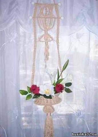 Интернет магазин кашпо декоративные горшки стойки: кашпо с орнаментом, новогодние шары из макраме.