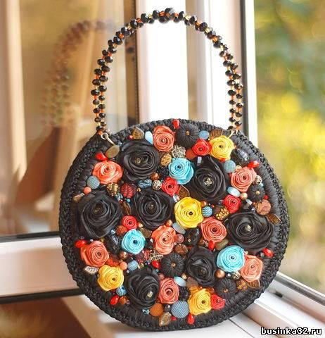 Декор бусинами сумки своими руками мастер класс 69