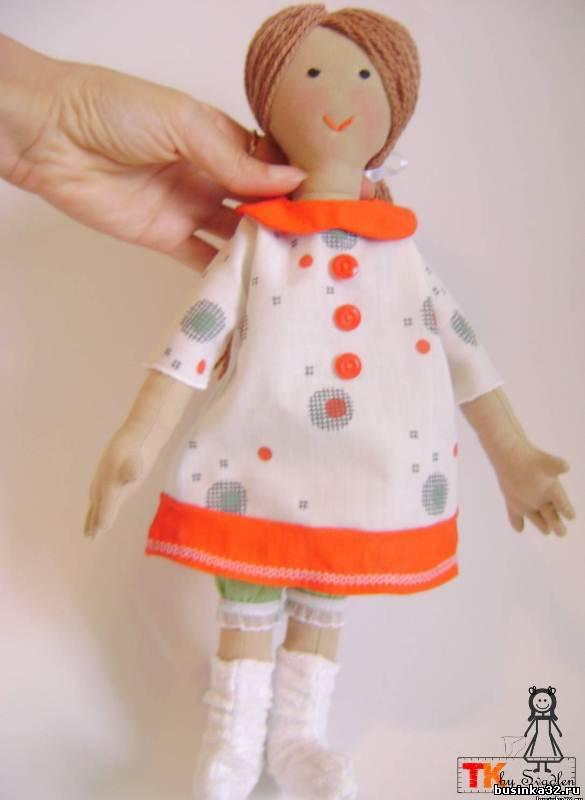 Куклы и игрушки ручной работы. Выкройка текстильной куклы