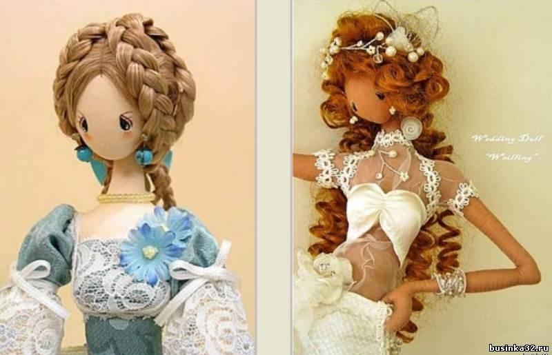 Волосы для куклы из ткани своими руками 67