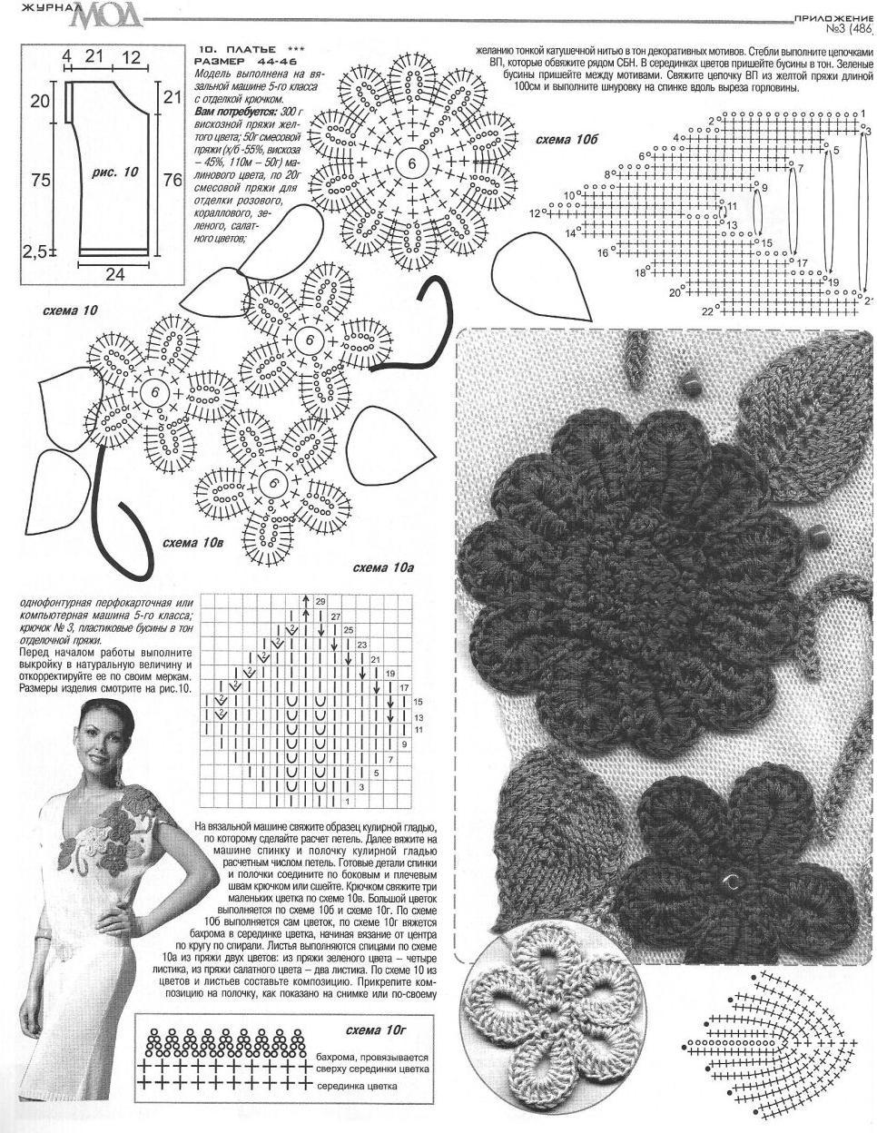 Схемы вязания модного журнала
