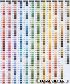 Популярные изображения по запросу Таблица карта цветов мулине DMC Вышивка крестом.
